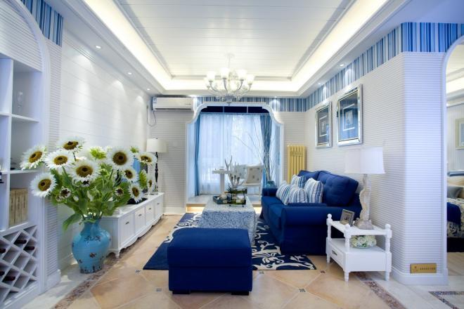 三居室地中海风格装修效果图