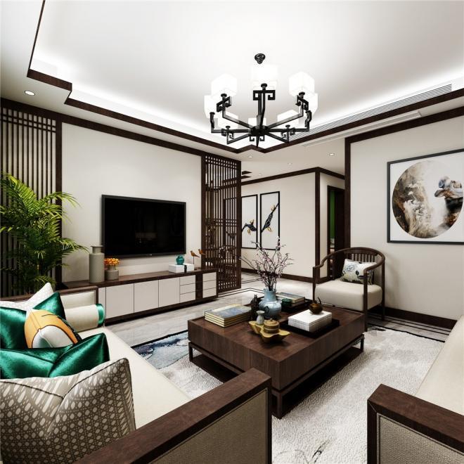 三居室新中式装修风格效果图