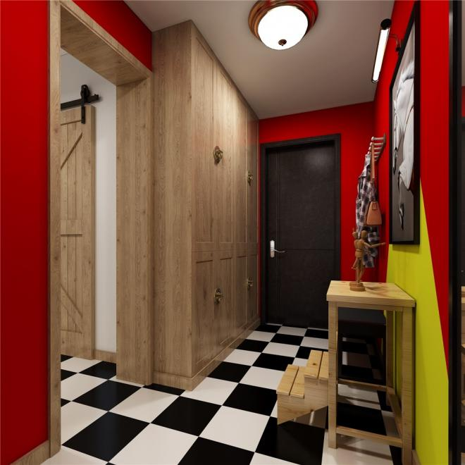 二居室混搭风格装修效果图