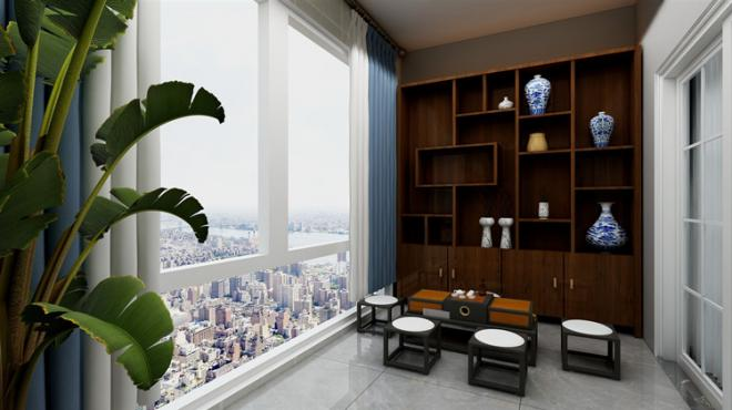 三居室新中式装修效果图