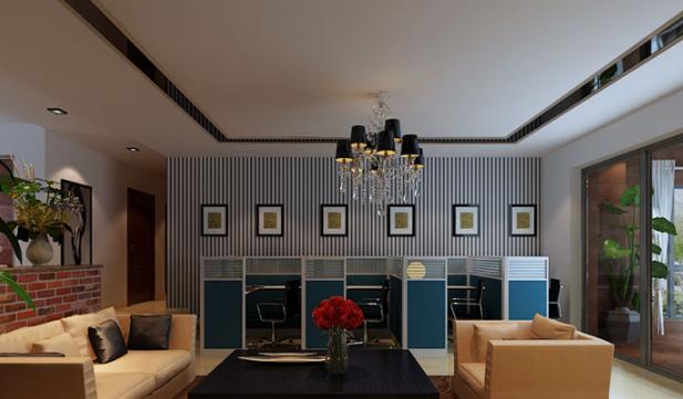 雅致静谧现代简约风格 石家庄办公室装修效果图