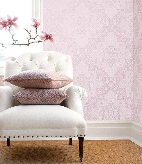 沙发背景墙壁纸效果图片