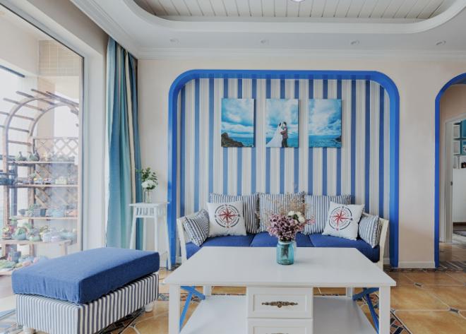地中海风格客厅装修效果图