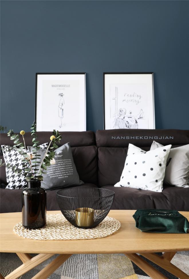 两居室客厅北欧风格装修效果图