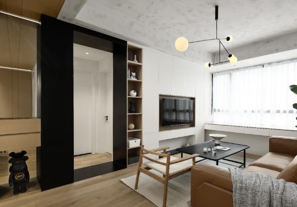 70平小户型现代简约风 淄博两居装修效果图