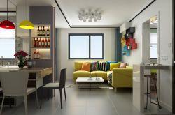 小户型现代二居室装修效果图