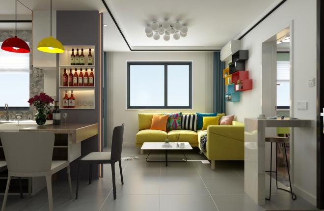 小户型两居室现代装修效果图