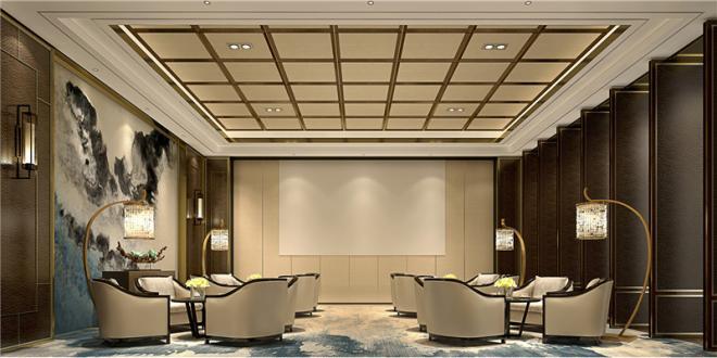 豪华中式办公室装修效果图