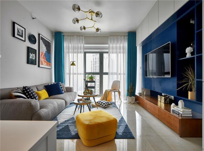 86㎡北欧风格 郑州两居室装修效果图