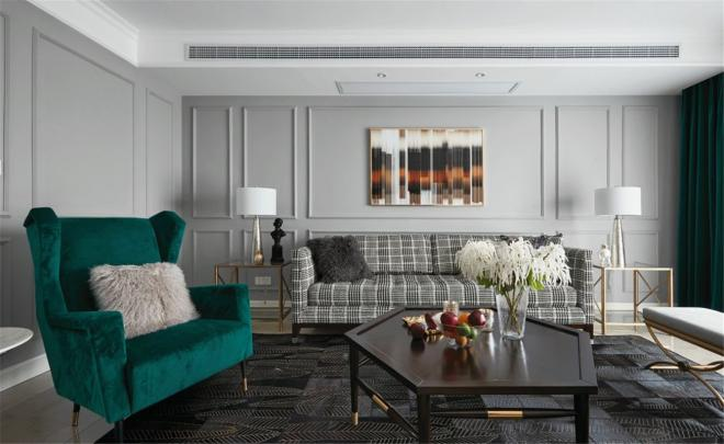 摩登时尚现代美式风格 合肥三居装修效果图