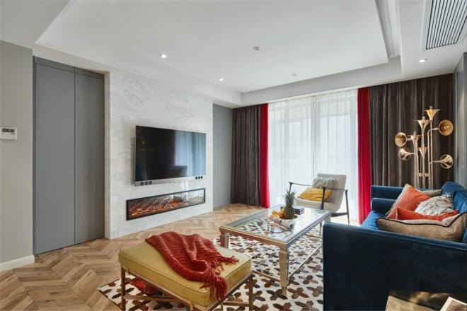 色彩丰富绚烂混搭风 合肥三居装修效果图