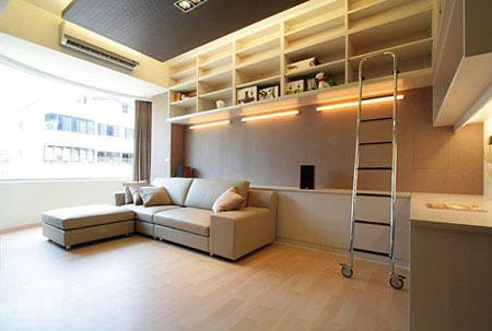 挑高小公寓装修效果图