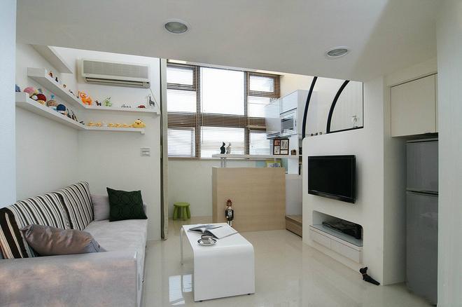 40平米小公寓装修 挑高复式小户型装修效果图