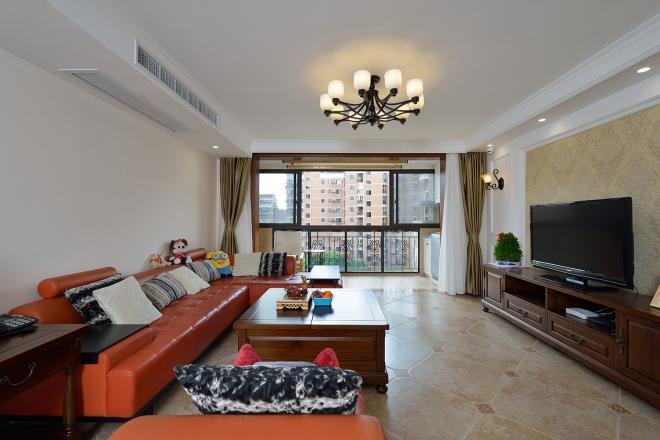 大气温馨美式风格 上海三居室装修效果图