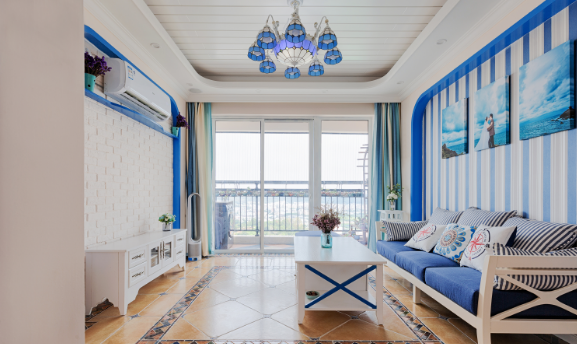 明亮清新地中海风格 上海三居装修效果图