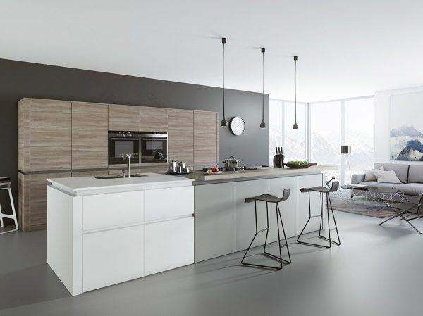 黑白灰现代风小厨房橱柜装修效果图