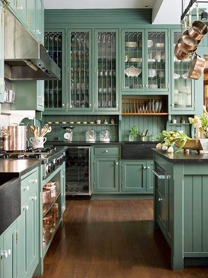 北欧风格小厨房柜子效果图