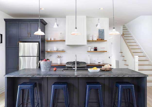 开放式小厨房橱柜展示图
