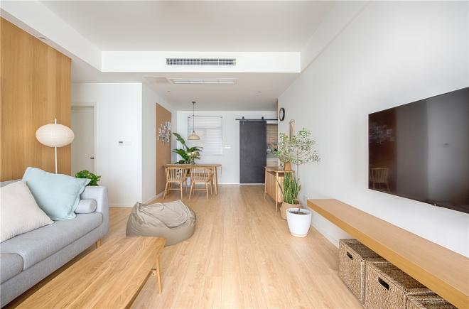 温馨舒适极简日式风格 合肥三居装修效果图