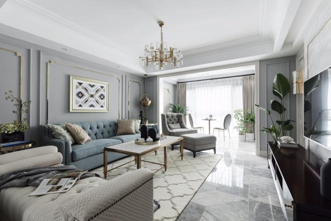 简美轻奢风格 北京三居室装修效果图