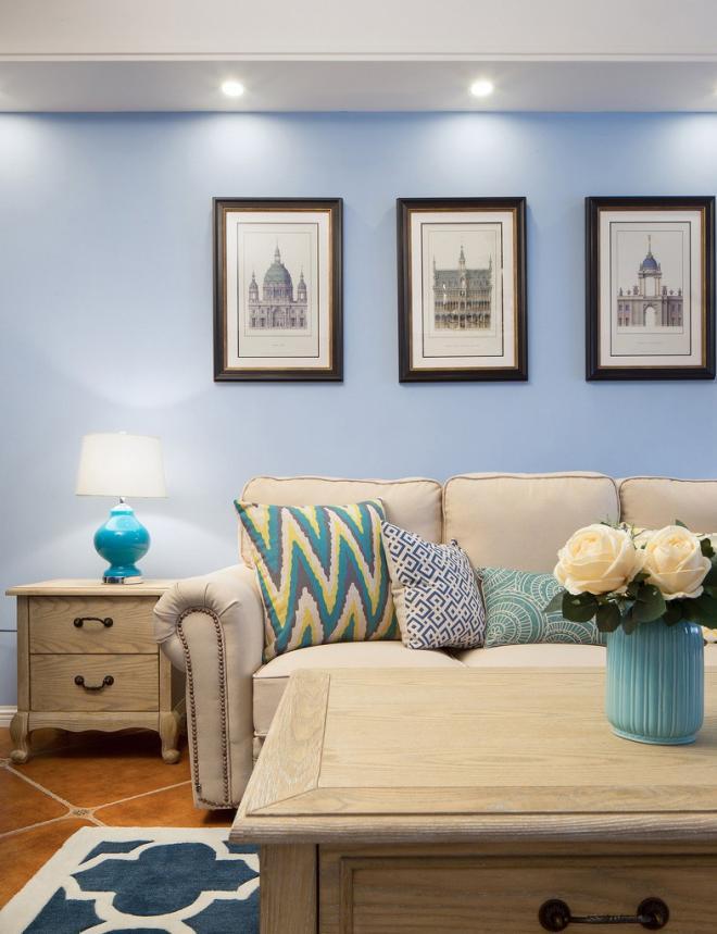 温馨浪漫美式风格 济南两居装修效果图