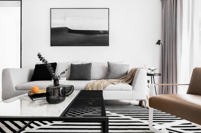 北欧现代风格 福州三居室装修效果图