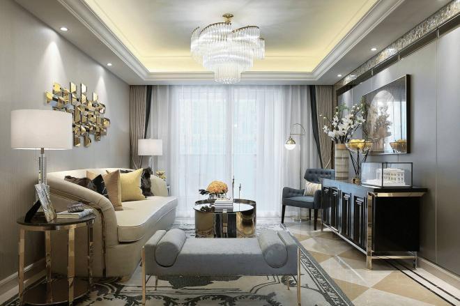时尚现代法式轻奢风格 北京家居装修效果图