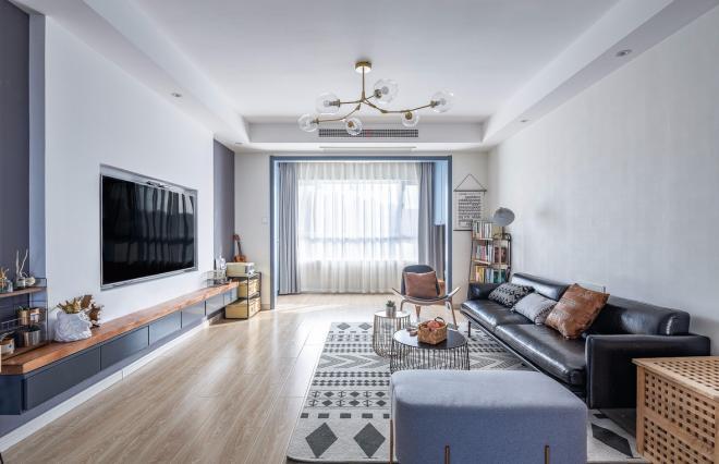 简约现代北欧风格 北京135平客厅装修效果图