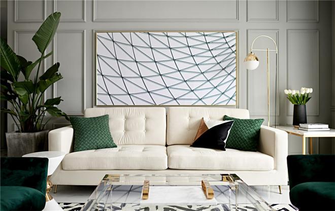 低调奢华法式风格 青岛四居室装修效果图