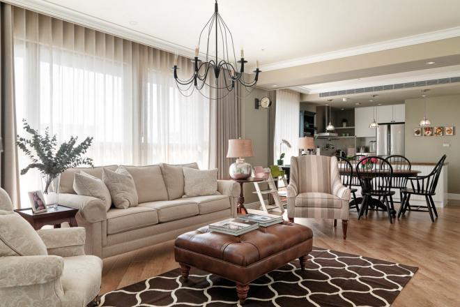 109平轻奢美式风格 无锡家居装修效果图