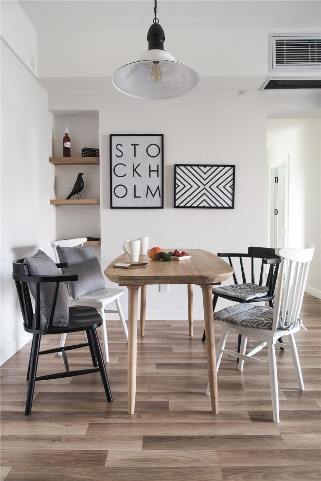 110平素雅明亮北欧风格 无锡家居装修效果图