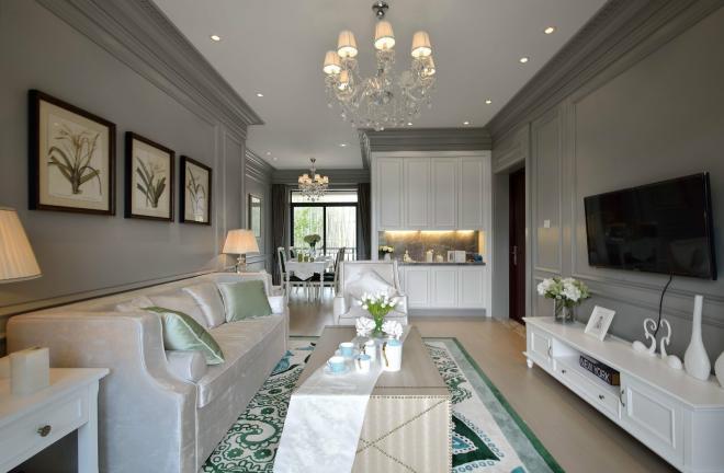 通透温馨美式风格 成都三居室装修效果图