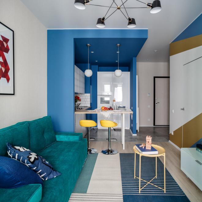 40平蔚蓝地中海风格 宿迁小公寓装修效果图