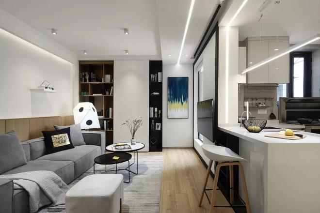 素雅时尚现代简约风格 宿迁两居装修效果图