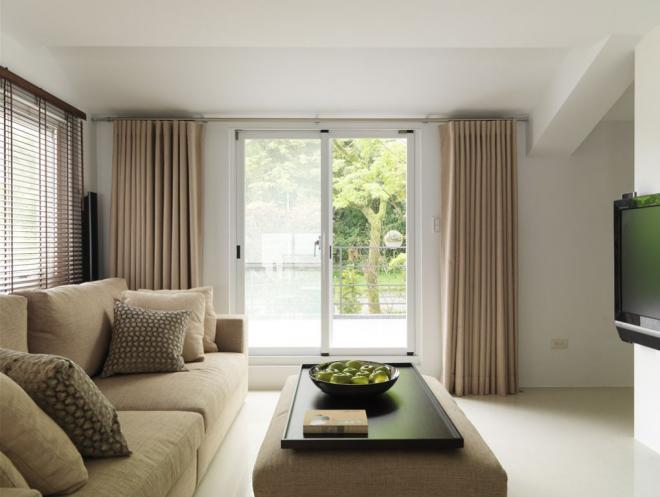 简约风格窗帘装修效果图客厅