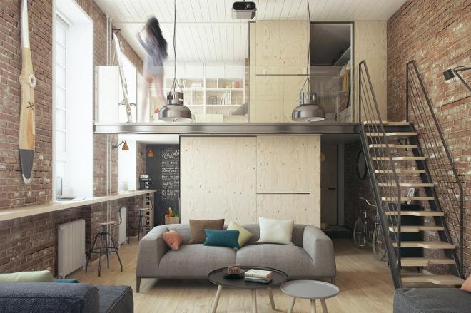 loft小公寓装修效果图