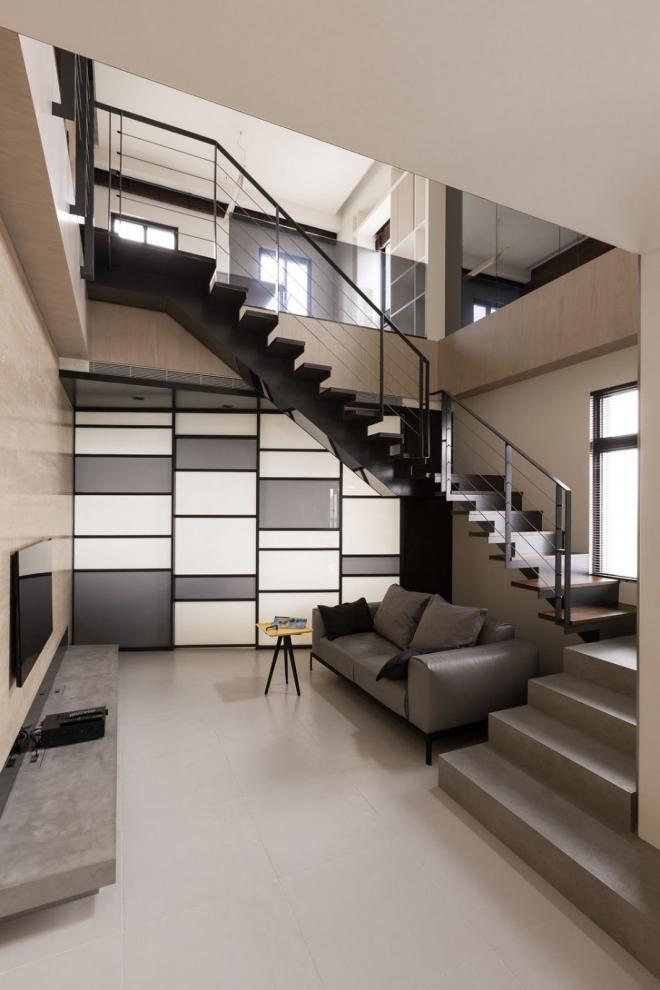 40平米loft公寓装修实景图