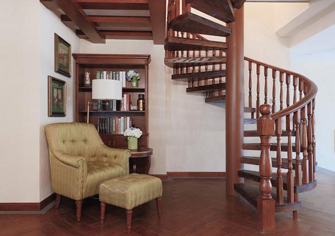 新中式楼梯装修设计效果图