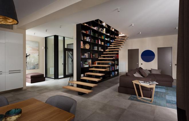 家庭装修楼梯效果图