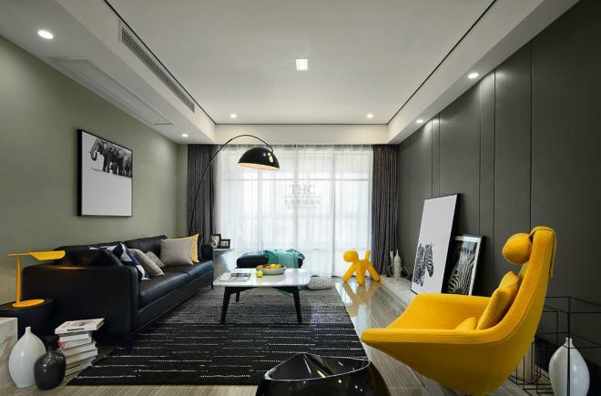 现代简约风格客厅整体效果图欣赏