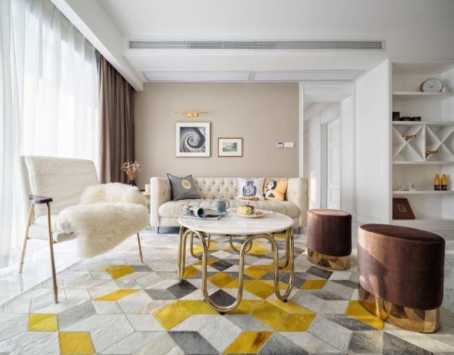 现代客厅轻奢风装修效果图