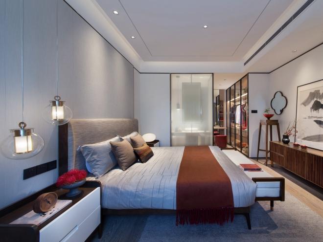 现代家居新中式卧室装修效果图