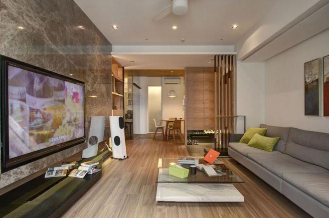 客厅电视墙纸效果图