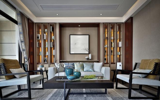 2020新中式客厅装修效果图