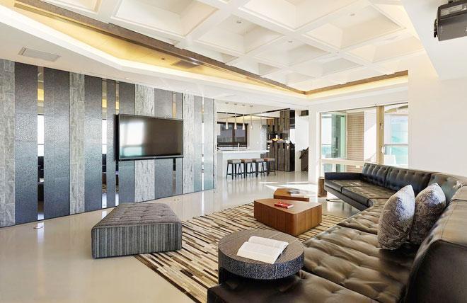 两室两厅效果图_2020年最新款电视背景墙装修效果图-装修啦
