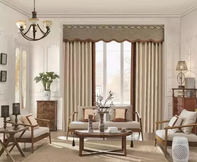 中式风格窗帘家装设计效果图 中式传统的艺术气息