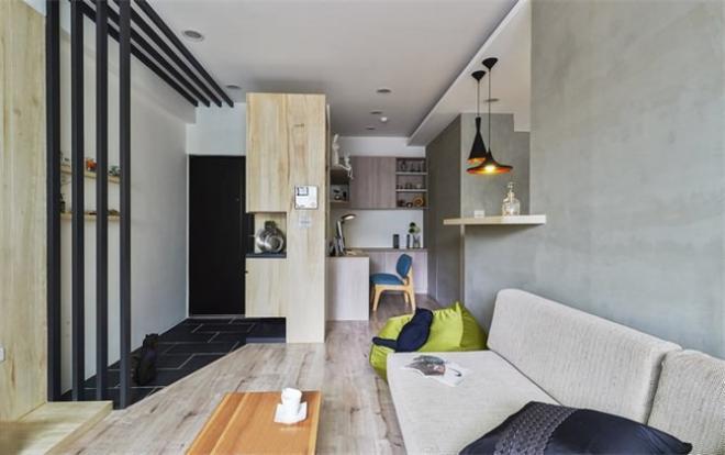 二居室80平米工业风格装修效果图