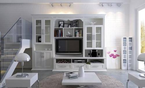 客厅壁柜效果图大全图片 实用创意客厅壁柜设计