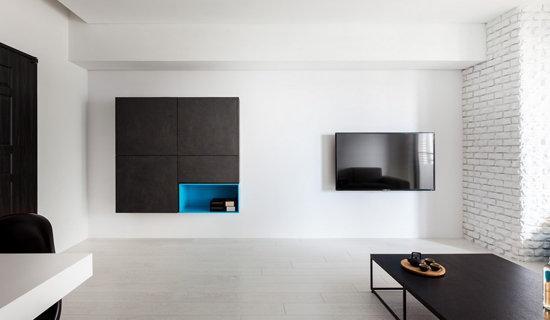 轻盈自然现代风紧凑型公寓装修效果图