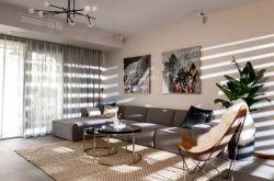 142平简约风三居室装修效果图 客厅电视背景墙创意效果图